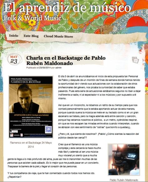 el aprendiz y Pablo Rubén Maldonado