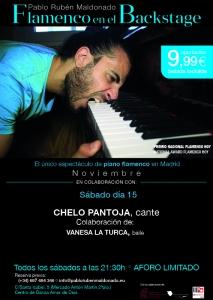 Conciertos de flamenco en Madrid, día 15 de Noviembre