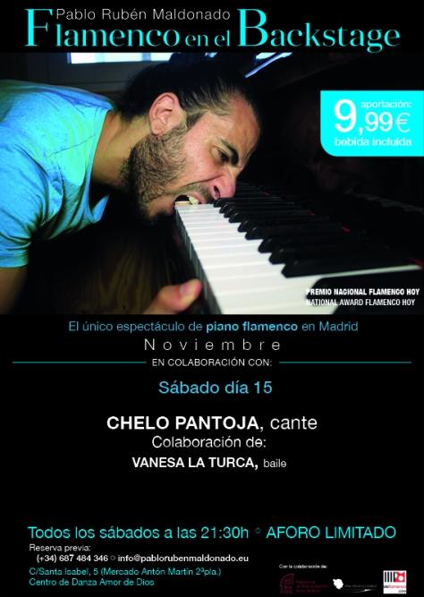 Flamenco en Madrid, día 15 de noviembre. Pablo Rubén Maldonado
