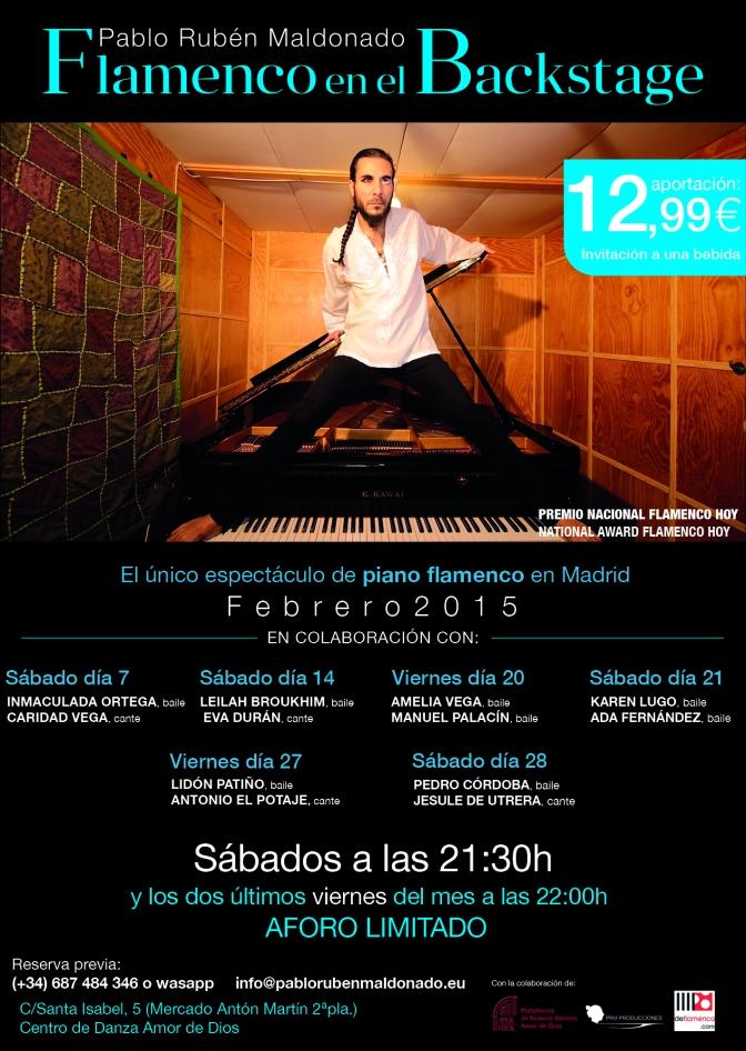 """Los mejores conciertos de flamenco en Madrid, se ven y disfrutan en el """"Backstage"""""""